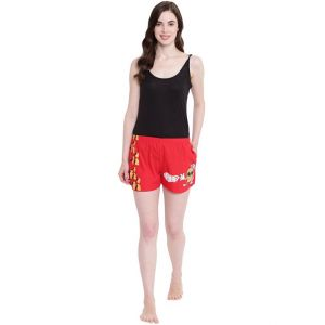 La Intimo Juicy Mango Red Shorts - ( Code - Bolif003rd0 )