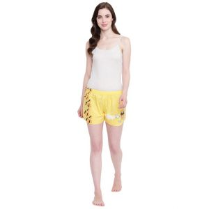 La Intimo Juicy Mango Yellow Shorts - ( Code - Bolif003yw0 )