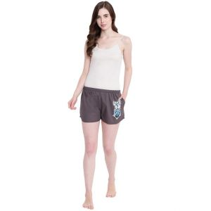 Soie,Flora,Oviya,Fasense,The Jewelbox,Asmi,La Intimo,Surat Tex,See More,Sinina Women's Clothing - La Intimo Funk You Grey shorts - ( Code - BOLIF006GY0 )