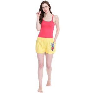 my pac,clovia,cloe,la intimo,surat tex,pick pocket Shorts (Women's) - La Intimo Funk You Yellow shorts - ( Code - BOLIF006YW0 )