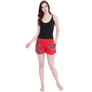 hoop,shonaya,vipul,the jewelbox,jagdamba,sangini,la intimo,magppie Shorts (Women's) - La Intimo Feeling Love Red shorts - ( Code - BOLIF007RD0 )