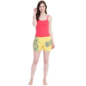 hoop,shonaya,vipul,the jewelbox,sinina,la intimo,magppie Shorts (Women's) - La Intimo Feeling Love Yellow shorts - ( Code - BOLIF007YW0 )