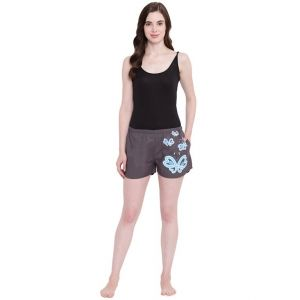 Soie,Flora,Oviya,Fasense,The Jewelbox,Asmi,La Intimo,Surat Tex,See More,Sinina Women's Clothing - La Intimo Butterfly Heart Grey shorts - ( Code - BOLIF008GY0 )
