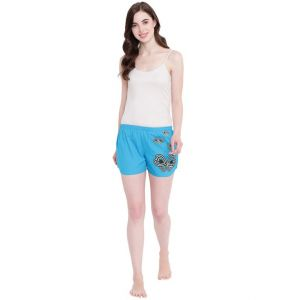 hoop,shonaya,vipul,the jewelbox,sinina,jagdamba,sangini,la intimo,magppie Shorts (Women's) - La Intimo Butterfly Heart Royal Blue shorts - ( Code - BOLIF008RB0 )
