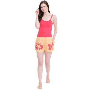 triveni,lime,la intimo,the jewelbox,pick pocket,surat tex,soie,gili,kiara,kaamastra,Hotnsweet,Sigma,Lew,Lotto Apparels & Accessories - La Intimo Bajaate Raho Saxophone Peach shorts - ( Code - BOLIF009PH0 )