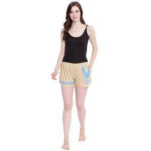 Rcpc,Ivy,Soie,Surat Diamonds,Port,Jharjhar,La Intimo,Hoop,Karat Kraft,Parineeta,N gal Women's Clothing - La Intimo Play with Boy All you Need Summer Fawn shorts - ( Code - BOLIF011FN0 )