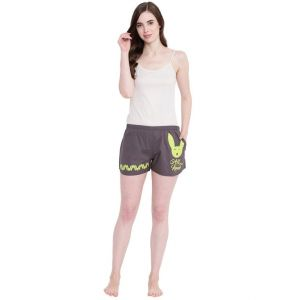 hoop,shonaya,vipul,kaamastra,the jewelbox,sangini,la intimo,magppie Shorts (Women's) - La Intimo Play with Boy All you Need Summer Grey shorts - ( Code - BOLIF011GY0 )