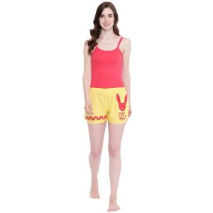 triveni,my pac,cloe,bagforever,la intimo,hoop,surat tex,pick pocket Shorts (Women's) - La Intimo Play with Boy All you Need Summer Yellow shorts - ( Code - BOLIF011YW0 )