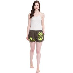 Vipul,Surat Tex,Avsar,Kaamastra,Lime,Platinum,Shonaya,The Jewelbox,La Intimo,Parineeta,Triveni Women's Clothing - La Intimo Adjust Plz 3 in 1 Olive shorts - ( Code - BOLIF012OV0 )
