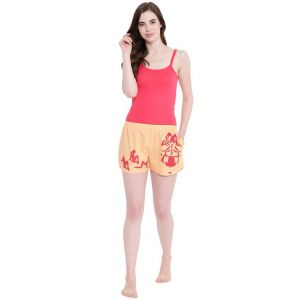 La Intimo Adjust Plz 3 In 1 Peach Shorts - ( Code - Bolif012ph0 )