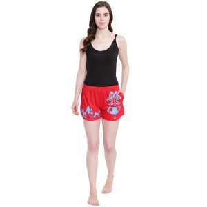 La Intimo Adjust Plz 3 In 1 Red Shorts - ( Code - Bolif012rd0 )