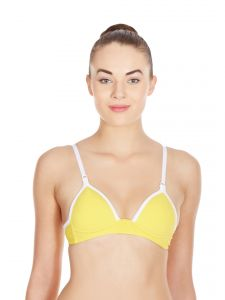 La Intimo -archaic Bra In Yellow-(product Code-librsl018yw0)
