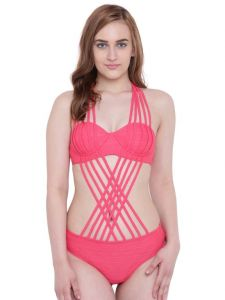 triveni,tng,bagforever,la intimo,surat tex,gili,flora,the jewelbox,see more Swim Wear (Women's) - La Intimo Flirty Shower Monokini Red Resort/Beach Wear - ( Code - LIF1P004RD0 )
