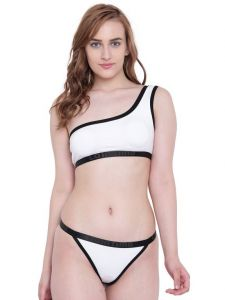 La Intimo Beach Bikini White Resort/beach Wear - ( Code - Lif2p002we0 )