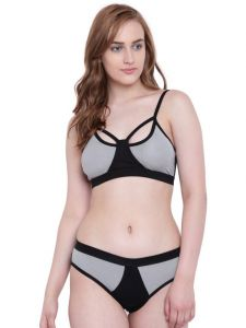 La Intimo Black Mermaid Bikini Grey Resort/beach Wear - ( Code - Lif2p003gy0 )