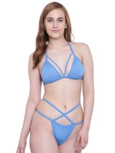 Platinum,Port,Mahi,Jagdamba,La Intimo,N gal,Jpearls Women's Clothing - La Intimo Beach Mania Bikini Blue Resort/Beach Wear - ( Code - LIF2P004AZ0 )