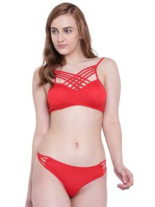 La Intimo Seaoath Bikini Red Resort/beach Wear - ( Code - Lif2p005rd0 )