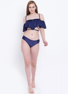 La Intimo Ruffle Buffle Bikini Resort/beach Wear - ( Code -lif2p007nb0)