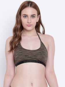 Pick Pocket,See More,Jharjhar,The Jewelbox,La Intimo,Tng,Asmi Women's Clothing - La Intimo AquaChick Olive Melange bra - ( Code - LIFBR009OV0 )