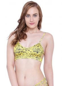 Triveni,Lime,La Intimo,Pick Pocket,Clovia Women's Clothing - Multi (Digital Prints) La Intimo Lakeside Bikini Bra - ( Code -LIFBR010ZM0)