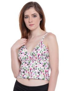 Kiara,La Intimo,Shonaya,Jharjhar,Unimod,Triveni,Surat Diamonds,Port,Pick Pocket Women's Clothing - Multi (Digital Prints )a Intimo Fash Melange Cropped Camisole - ( Code -LIFBR012ZE0 )
