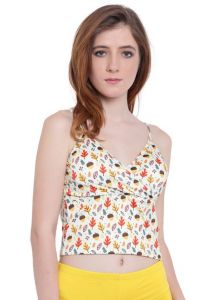 Vipul,Surat Tex,Avsar,Kaamastra,Lime,Platinum,The Jewelbox,La Intimo,Tng Women's Clothing - Multi (Digital Prints )a Intimo Fash Melange Cropped Camisole - ( Code -LIFBR012ZG0 )