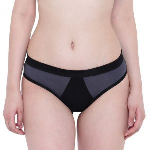 Tng,Bagforever,La Intimo,Surat Tex,Gili,Flora,The Jewelbox,See More Women's Clothing - La Intimo Black Mermaid Steel Grey Panty - ( Code - LIFPY003SG0 )