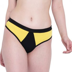 Vipul,Pick Pocket,Soie,Arpera,Surat Diamonds,Sinina,Port,La Intimo Panties - La Intimo Black Mermaid Yellow Panty - ( Code - LIFPY003YW0 )