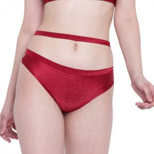 Triveni,Tng,Bagforever,La Intimo,Surat Tex,Gili,Flora,The Jewelbox,See More,Jpearls Women's Clothing - La Intimo Beach Bold Maroon Panty - ( Code - LIFPY006MN0 )