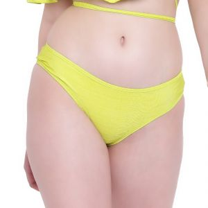 triveni,la intimo,the jewelbox,cloe,pick pocket,surat tex,soie,gili,kiara,kaamastra,Hotnsweet,Arpera Apparels & Accessories - Fluorescent Green La Intimo Ruffle Buffle Panty Resort/Beach Wear - ( Code -LIFPY007LP0_M) M, Fluorescent Green