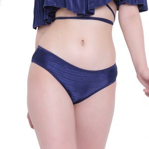 Triveni,Pick Pocket,Jpearls,Diya,La Intimo Women's Clothing - Navy Blue La Intimo Ruffle Buffle Panty Resort/Beach Wear - ( Code -LIFPY007NB0_XS) XS, Navy Blue