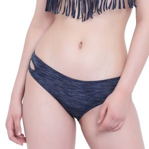 Triveni,La Intimo,Shonaya Women's Clothing - Navy Blue Melange La Intimo Bea Chick Panty Resort/Beach Wear - ( Code -LIFPY008NB0_XS) XS, Navy Blue Melange
