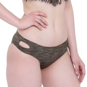 Triveni,Lime,Clovia,Soie,See More,Arpera,La Intimo,Magppie,Mahi Fashions Women's Clothing - Olive Melange La Intimo Bea Chick Panty Resort/Beach Wear - ( Code -LIFPY008OV0_M) M, Olive Melange