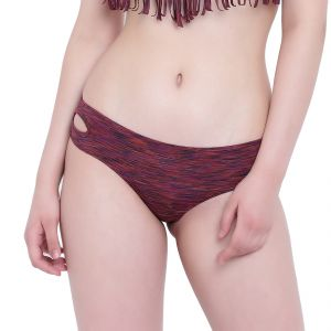 Triveni,La Intimo Women's Clothing - Red Melange La Intimo Bea Chick Panty Resort/Beach Wear - ( Code -LIFPY008RD0_L) L, Red Melange
