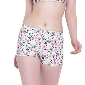 Triveni,Platinum,Jagdamba,Pick Pocket,Surat Diamonds,La Intimo,Gili Women's Clothing - Multi (Digital Prints) La Intimo Punk Life Shorts Resort/Beach Wear - ( Code -LIFPY011ZE0_XL) XL, Multi (Digital Prints)