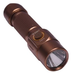 Gor 200 Meter Q5 Cree LED Rechargeable Flashlight 4.8 Inches Gold Torch