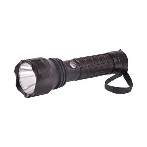 Gor 600 Meters 3 Modes Rechargeable LED Flashlight 7 Inches Torch Black