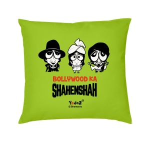 Yedaz Satin Filled With Polyfibre 16x16 Green Bollywood Cushion - Shahenshah