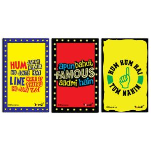 Yedaz Wooden/mdf Bollywood Kitchen Fridge Magnet Combo Of Dialogues