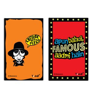 Yedaz Wooden/mdf Bollywood Kitchen Fridge Magnet Excuse Me & Famous Aadmi