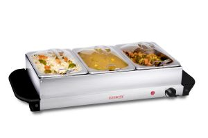 Clearline 3 Pan Food Warmer And Buffet Server