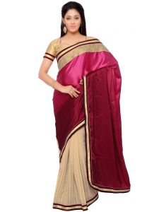 Indian Women Satin Chiffon Multi Color Saree (code - Inwga20116-mm)