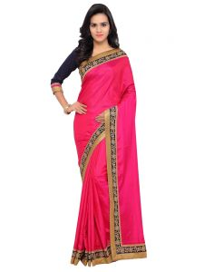 Indian Women Magenta Color Paper Silk Saree (code - Inwga20429-mm)