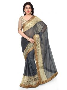 Indian Women Gray Color Lycra Saree (code - Inwmg12306-mm)