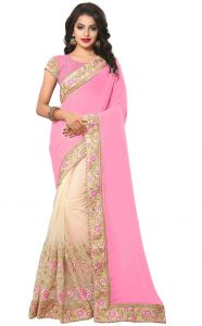 Sudarshan Silks Sarees - Sudarshan Silks  Pink  Georgette  Saree  SP_KLK55005