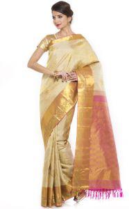 Silk Sarees - Sudarshan Silks White Jacquard Saree ( KS1585 )