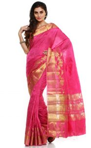 Sudarshan Silks South Rawsilk Rawsilk Saree In Pink - (code -kspl155)