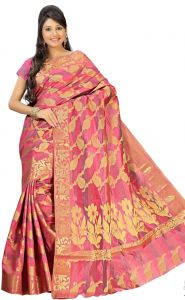 Sudarshan Silks Pink Art Silk Saree-kspl38