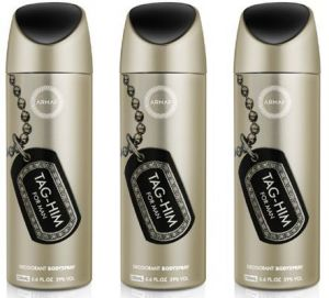 Set Of 3 Armaf Tag-him Deodorant For Man - 200 Ml