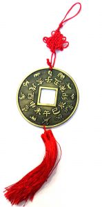 Big Lucky Coins Hanging (4 Inch Diameter Coin) For Good Luck And Prosperity